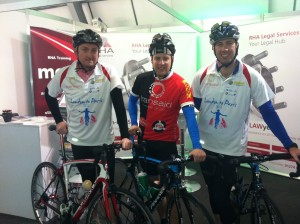 Intrepid cyclists make a stop en-route to Paris!