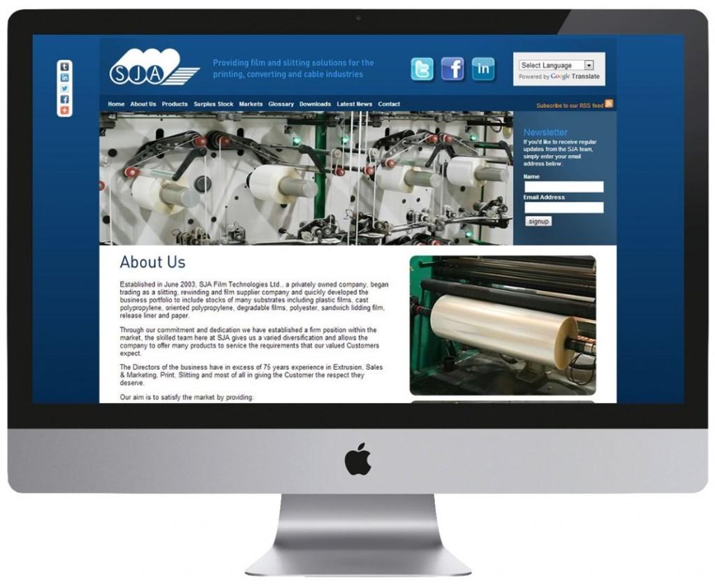 SJA Film Tech website